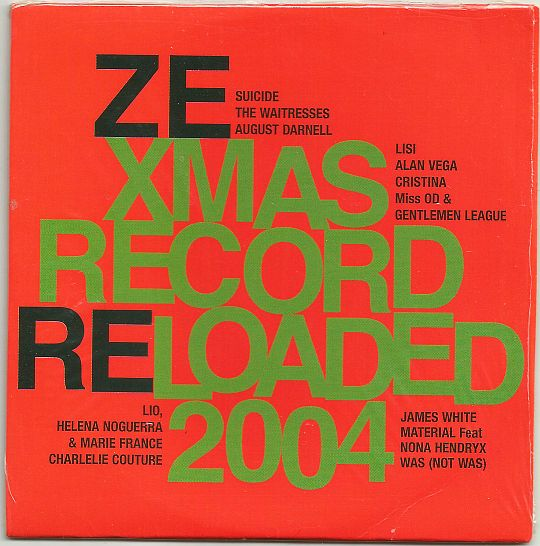 recto du sampler promotionnel du label Ze Records - Ze Xmas record reloaded 2004
