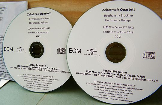 double CD promo Collector du Zehetmair Quartett