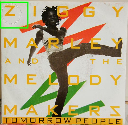 recto du vinyle 45 tours Collector promo de Ziggy Marley - Tomorrow people
