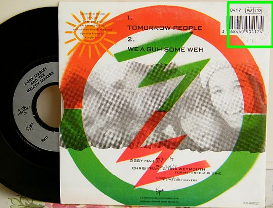 verso et 45 tours promo de Ziggy Marley - Tomorrow people - We a guh some weh